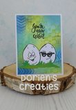 CraftEmotions Clearstamp A6 - Egg Faces_