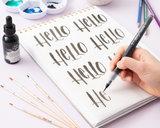 Kelly Creates Watercolor Brush Lettering - Waterpenselen Zwart_