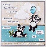 Marianne Design Die & Stamp - Eline's Animals Panda EC0179_