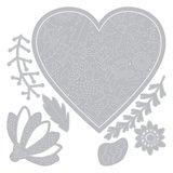 Sizzix Thinlits Die - Bold Floral Heart 664492_