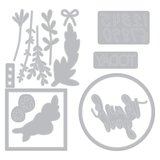 Sizzix Framelits Die & Stamp - Time Out 664490_