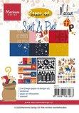 Marianne Design Paper Set A5 - Sint & Piet PK9173_