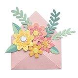 Sizzix Thinlits Die - Flowers with Envelope 665078_