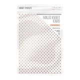 Tonic Studios Foiled Kraft Card - Rose Gold Hearts 9346E_