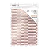 Tonic Studios Foiled Kraft Card - Rose Gold Triangles 9347E_