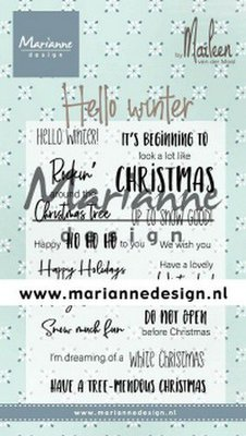 Marianne Design Stempel - Marleen's Hello Winter CS1037