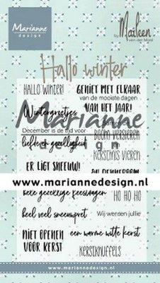 Marianne Design Stempel - Marleen's Hallo Winter CS1036