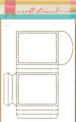 Marianne Design Craft Stencil - Party Pocket PS8043
