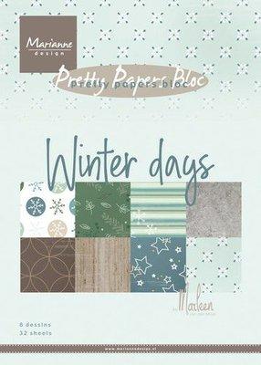 Marianne Design Paper Pack A5 - Marleen's Winter Days PK9164