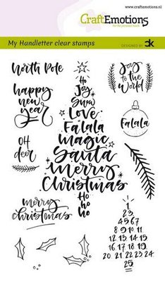 CraftEmotions Clearstamp A6 - Handletter Christmas 1