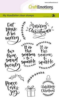 CraftEmotions Clearstamp A6 - Handletter Christmas 2