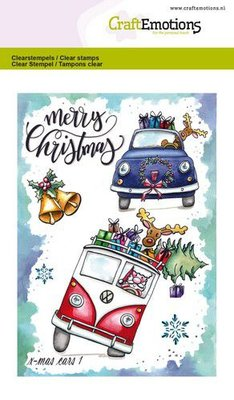 CraftEmotions Clearstamp A6 - X-mas Cars 1