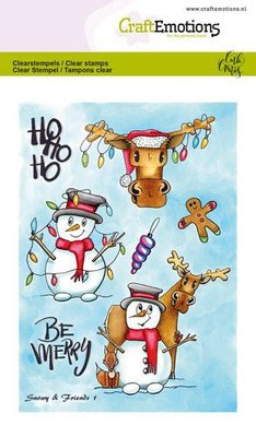 CraftEmotions Clearstamp A6 - Snowy & Friends 1