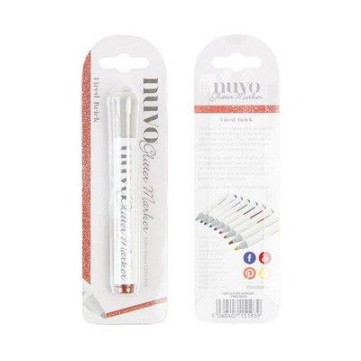 Nuvo Glitter Marker - Fired Brick 193N