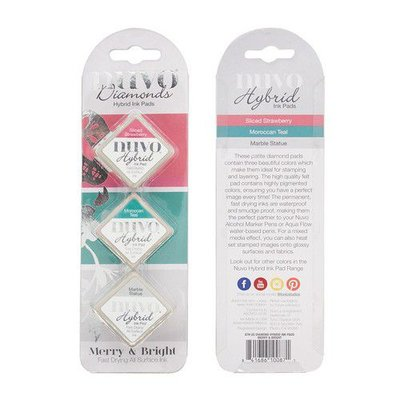 Nuvo Diamond Hybrid Ink Pads - Merry & Bright 87N
