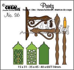 Crealies Partz 36 - Lantaarn