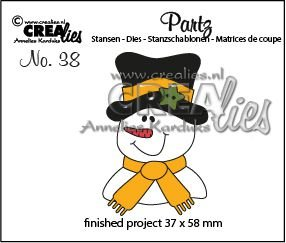 Crealies Partz 38 - Sneeuwpop