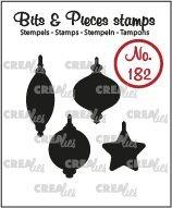Crealies Bits & Pieces 182 - Kerstballen