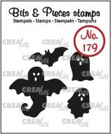 Crealies Bits & Pieces 179 - Spoken en vleermuis