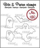 Crealies Bits & Pieces 180 - Spoken en vleermuis