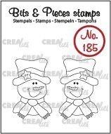 Crealies Bits & Pieces 185 - Snowman