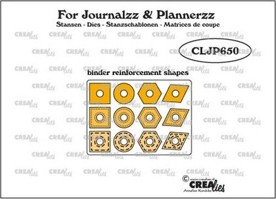 Crealies Journalzz & Plannerzz - Gaatjesverstevigers