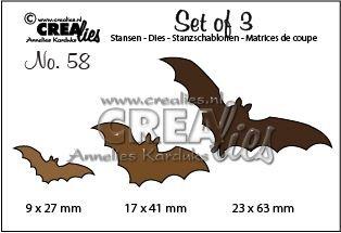 Crealies Set of 3 nr. 58 - Vleermuizen