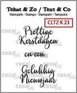 Crealies Tekst & Zo - Kerst 23