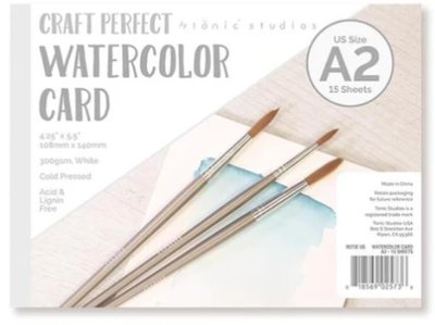 Tonic Studios Craft Perfect - Watercolor Pad A2 9573E