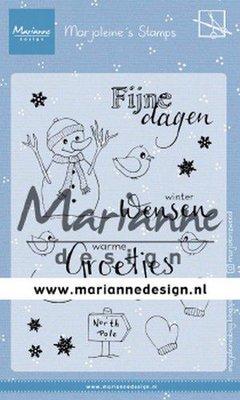 Marianne Design Stempel - Marjoleine's Snowman MZ1905