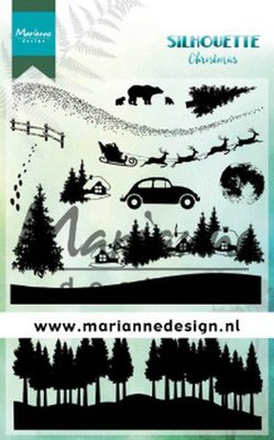 Marianne Design Stempel - Silhouette Christmas CS1040