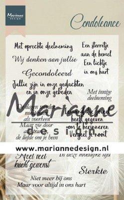 Marianne Design Stempel - Condoleance NL CS1041