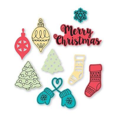 Sizzix Framelits Die Set & Stamps - Christmas Classics 663670