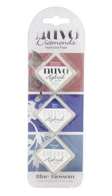 Nuvo Diamond Hybrid Ink Pads - Blue Blossom 86N