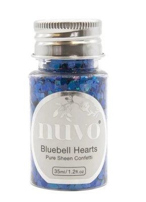 Nuvo Pure Sheen Confetti - Bluebell Hearts 1070N