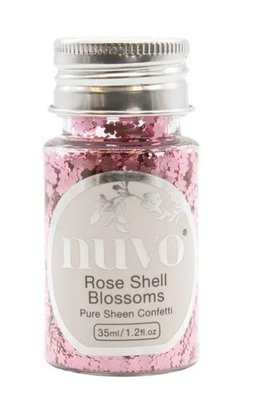 Nuvo Pure Sheen Confetti - Rose Shell Blossoms 1071N