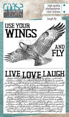 Coosa Crafts Clearstamp A6 - Laugh Fly COC-096