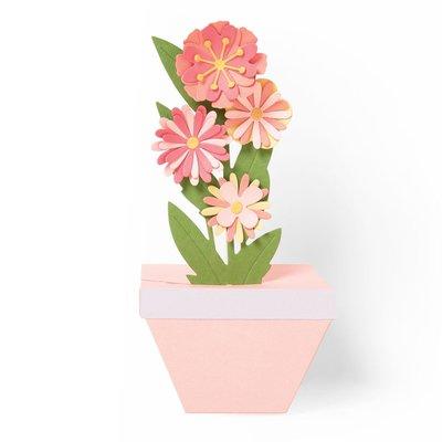 Sizzix Thinlits Die - Pop-Up Plant Pot 664360
