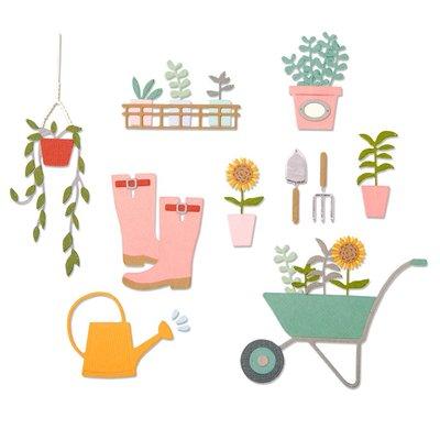 Sizzix Thinlits Die - Garden Shed 664379