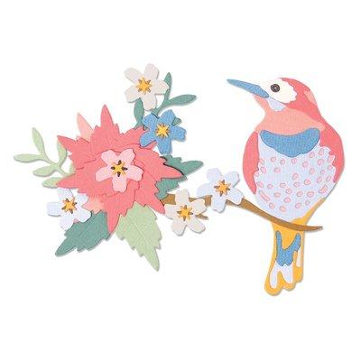 Sizzix Thinlits Die - Bird Scene 664392