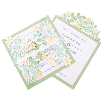 Sizzix Thinlits Die - Floral Edges #2 664395