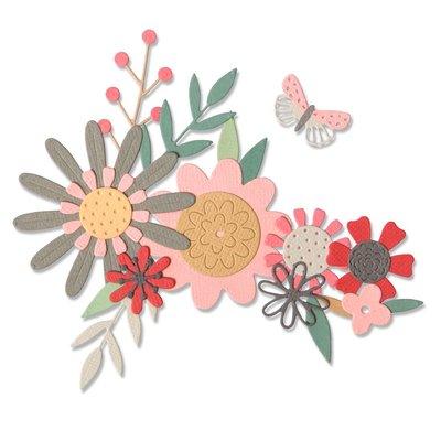 Sizzix Thinlits Die - Bold Flora 664397