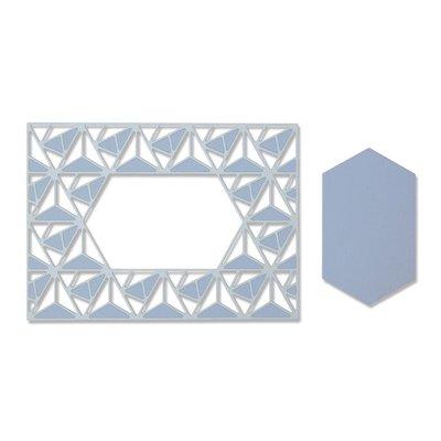 Sizzix Thinlits Die - Geo Lattice Frame 664398
