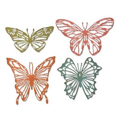 Sizzix Thinlits Die - Scribbly Butterflies 664409
