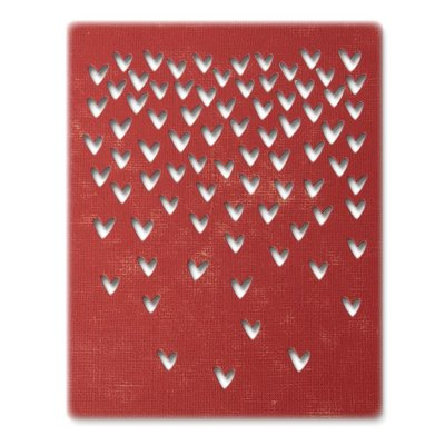 Sizzix Thinlits Die - Falling Hearts 664415
