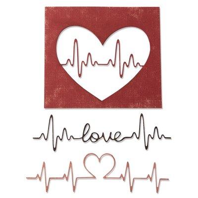 Sizzix Thinlits Die - Heartbeat 664416