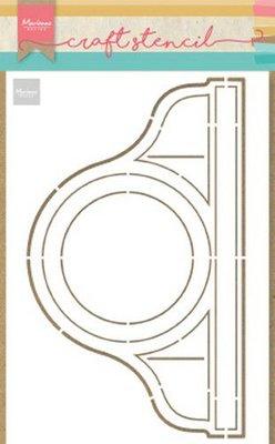 Marianne Design Craft Stencil - Pendule (Clock) PS8049