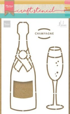 Marianne Design Craft Stencil - Champagne by Marleen PS8051