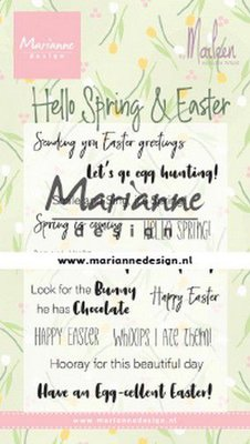Marianne Design Stempel - Marleen's Hello Spring and Easter CS1044