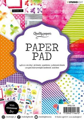 Studio Light Paper Pack A5 - Rainbow Nr. 129